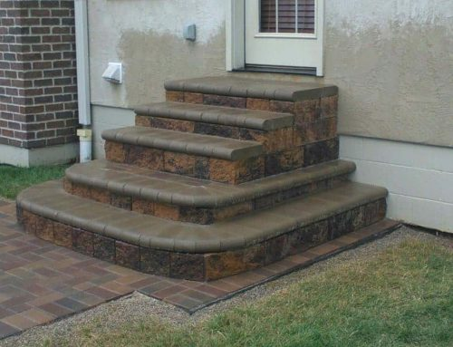 Incorporating round steps with a formal step design with a bull nose step landing