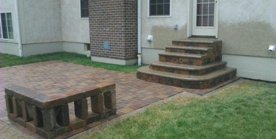 jonathan allen – steps – custom steps with a bull nose cap and a 45 degree standing seating wall