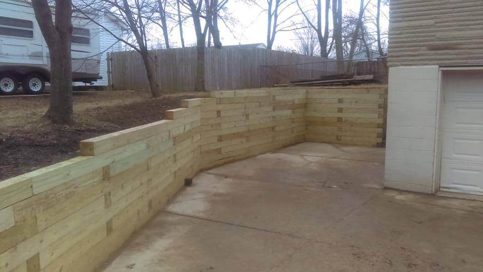 jonathan allen – wall – 6by6 timber wall structure done for the city of Westerville