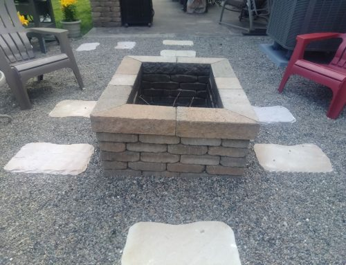 Rectangle firepit with a 3 inch 45 degree cut cap